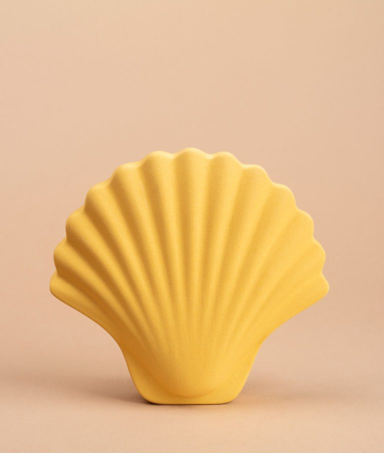jarrón cerámica concha